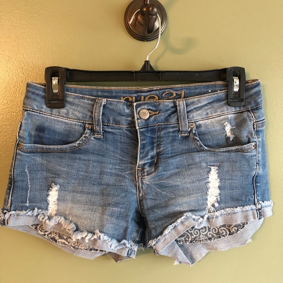 Rue21 Pants - Rue 21 Distressed Denim Shorts 1/2